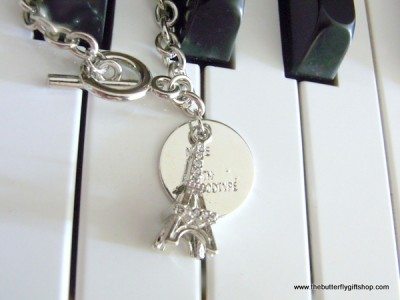 Stylish Eiffel Tower Charm Bracelet
