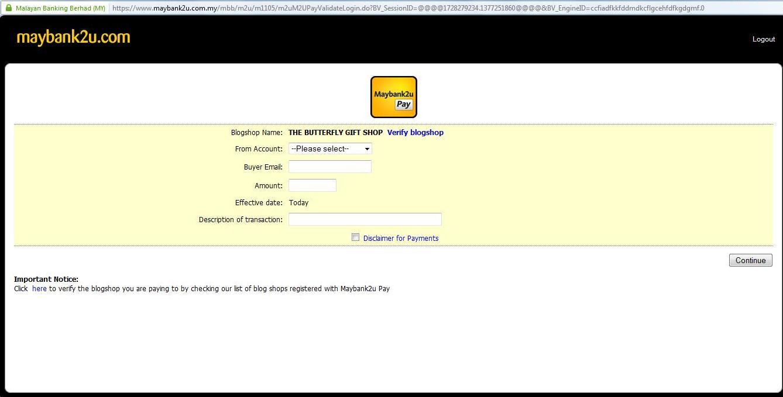 Maybank2uPay-Enter Details