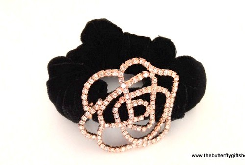 Beautiful Rose Scrunchie