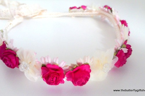 Beautiful Flower Girl Head Piece