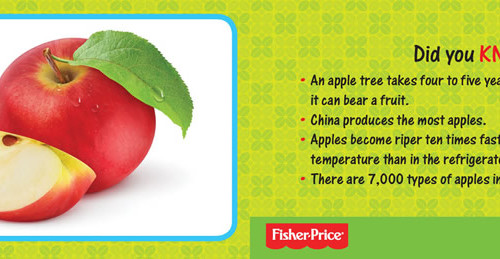 Fisher-Price Flash Card: Fruits and Vegetables