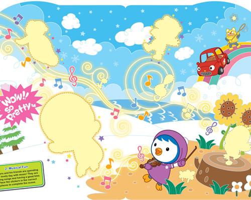 Pororo Book: A Happy Day A Sticker Scene Book
