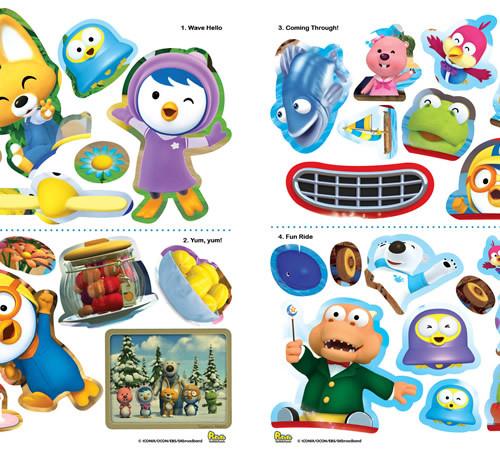Pororo and Friends A Sticker Scene Book