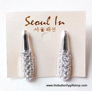 Elegant Earrings with Diamante Details