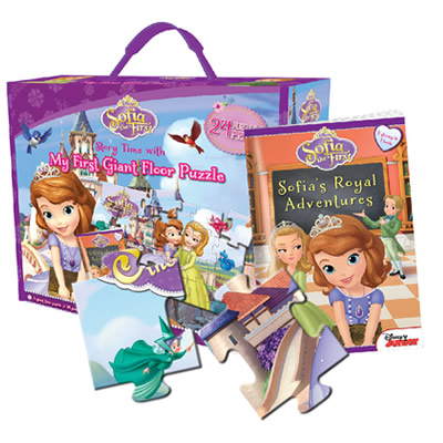 Sofia the First: Story Time with Giant Floor Puzzle Box Set