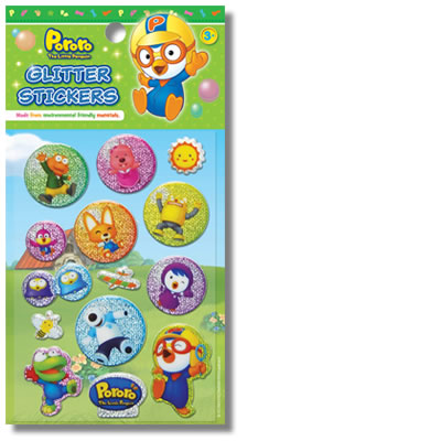 Pororo Stickers: Glitter Design 1