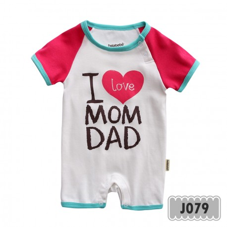 0ad9e528d Holabebe Baby Jumper- I Love Mom   Dad (White) - The Butterfly Gift ...