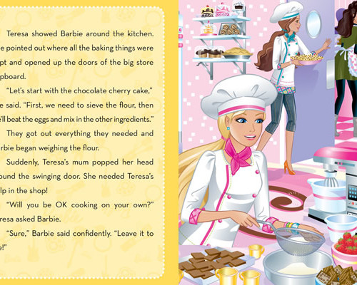 Barbie: A Pastry Chef Storybook with 3D Play Model Scene