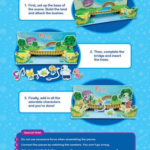 Pororo´s Exciting Day Activity Book with 3D Construct and Play Model Scene