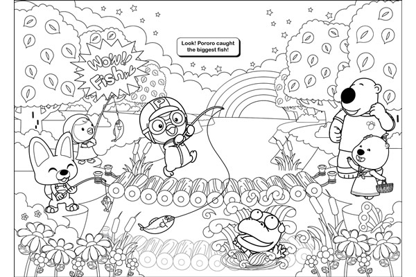 Pororo colouring block with twist up crayons the for Pororo coloring pages