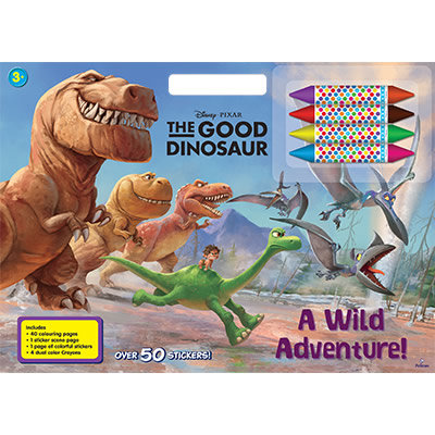Disney Pixar: The Good Dinosaur - A Wild Adventure! Mega Colouring Block with Crayons