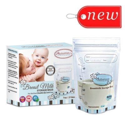 (NEW!) Autumnz - Double ZipLock Breastmilk Storage Bag (25 bags) 7oz