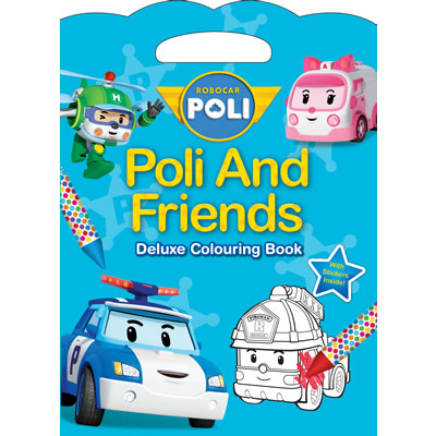 Robocar Poli & Friends Deluxe Colouring Book with Crayons