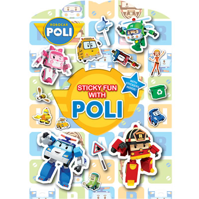 Robocar Poli Sticker Scene Book