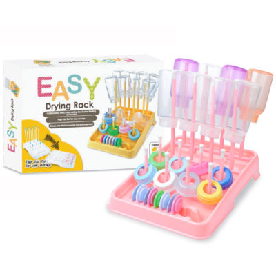 EASY Bottle Drying Rack: Bubblegum / Lilac