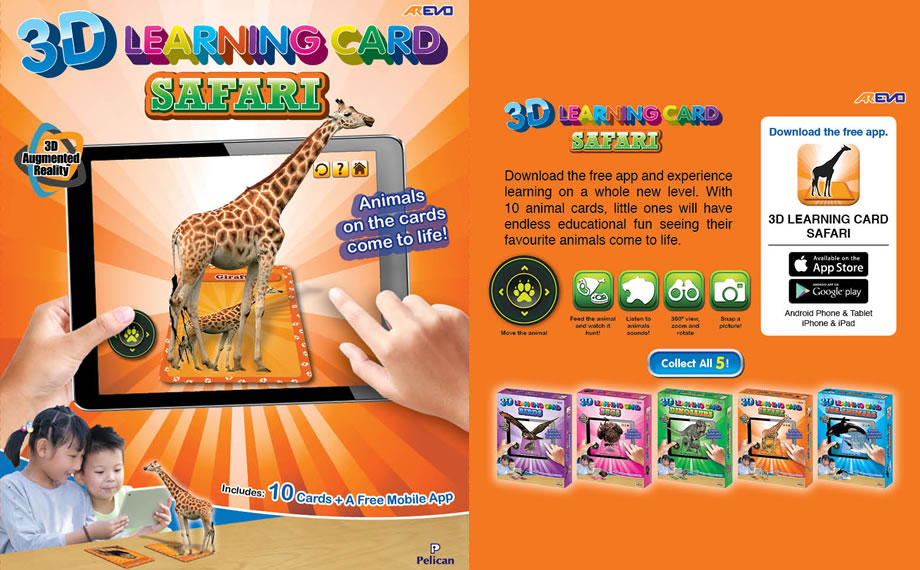 Arevo Augmented Reality 3D Learning Card