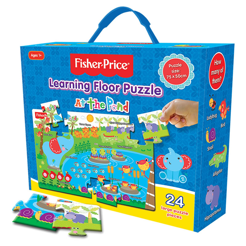 Fisher Price Learning Floor Puzzles At The Pond The