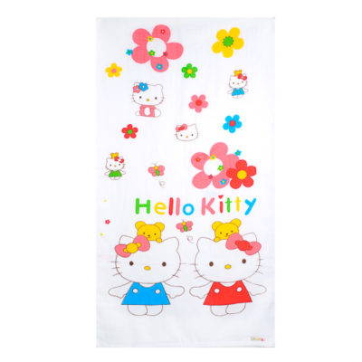 Autumnz Baby Bath Towels - Kitty in Garden