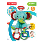 Fisher-Price Stroller Companion: Hanging Plush - Elephant (6 Inches)