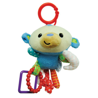 Fisher-Price Stroller Companion: Hanging Plush - Monkey (6 Inches)