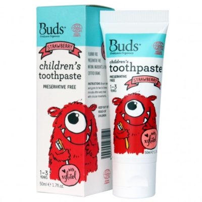 Buds Children's Toothpaste with Xylitol 50ml - Strawberry
