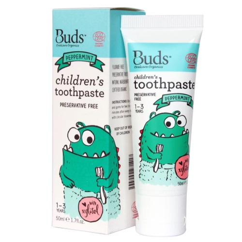Buds Children's Toothpaste with Xylitol 50ml - Peppermint