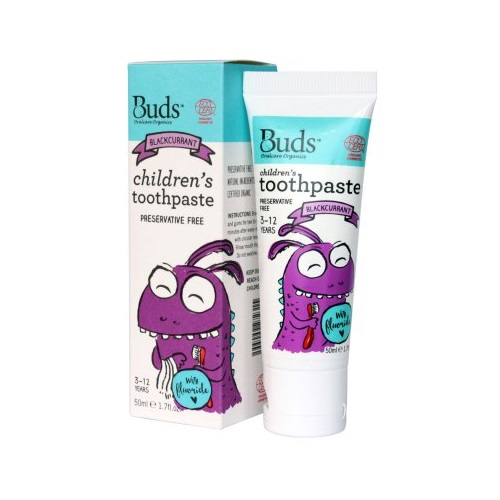Buds Children´s Toothpaste with Flouride 50ml - Blackcurrent