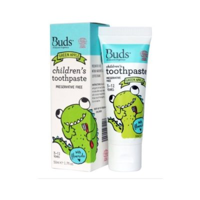 Buds Children´s Toothpaste with Flouride 50ml - Green Apple