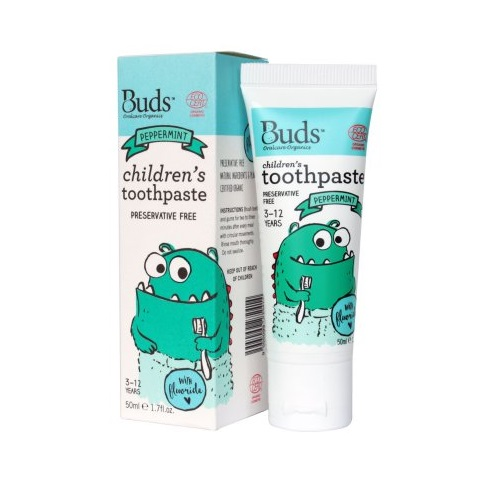 Buds Children´s Toothpaste with Flouride 50ml – Peppermint