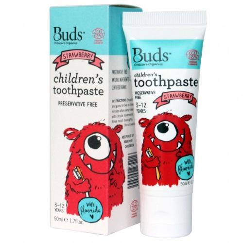 Buds Children´s Toothpaste with Flouride 50ml - Strawberry