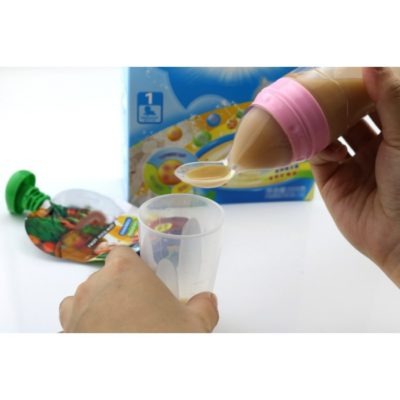 Silicone baby food dispensing spoon