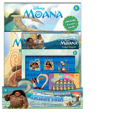 Disney Moana: 4-in-1 Activity Pack!