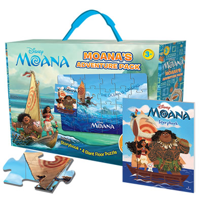 Disney Moana: Moana´s Adventure Pack with Giant Puzzle and Storybook!
