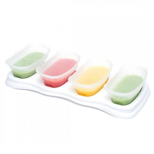 EASY Breastmilk & Baby Food Storage Cups (4oz)- White