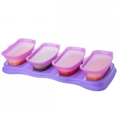 EASY Breastmilk & Baby Food Storage Cups (4 oz)- Plum
