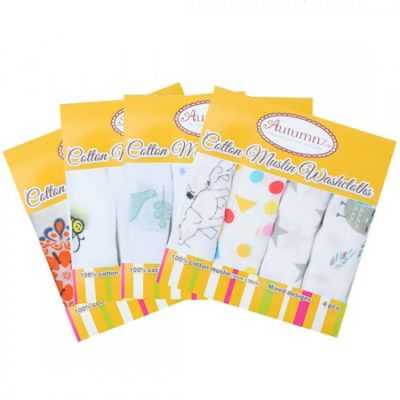 Autumnz Cotton Muslin WashCloth