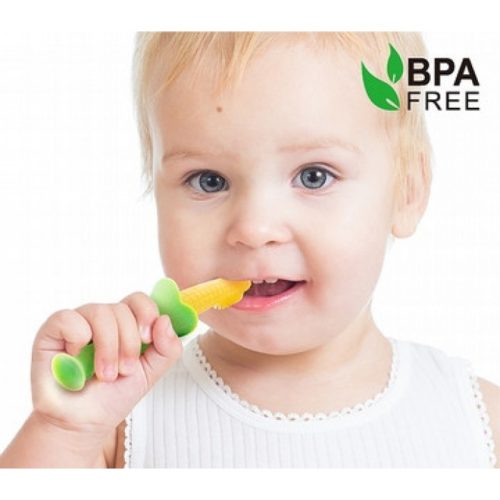 Haakaa - Silicone Teething Toothbrush with Suction Stand