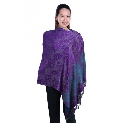 Autumnz Nursing Wrap: Cosmos (Purple)