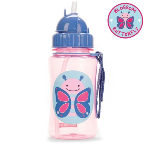 Skip Hop :  Zoo Straw Bottle - Butterfly (12 Oz/ 350ml)