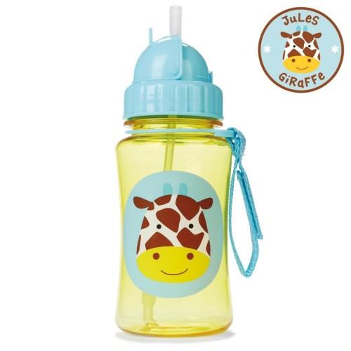 SKIP HOP: Zoo Straw Bottle - Giraffe (12 Oz/ 350ml)