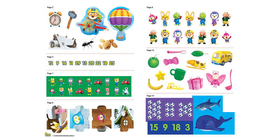 Pororo´s Exciting Day Activity Book with 3D Construct and Play Model Scene  - The Butterfly Gift Shop